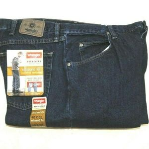 Mens Five Star Denim Jeans Relaxed Fit U Shape